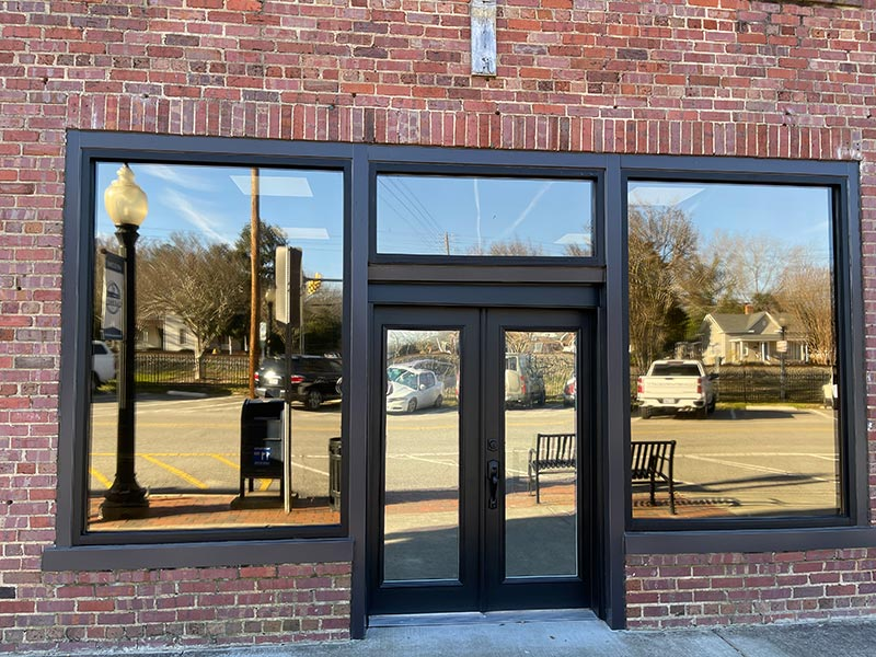 Storefront-glass-window-replacement-Fuquay-Varina