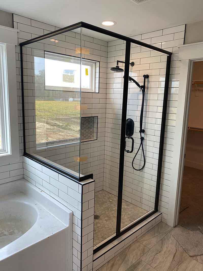 Framed-shower-enclosure